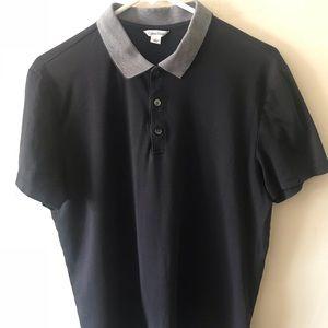 Calvin Klein L Black Button Down Golf Style Shirt